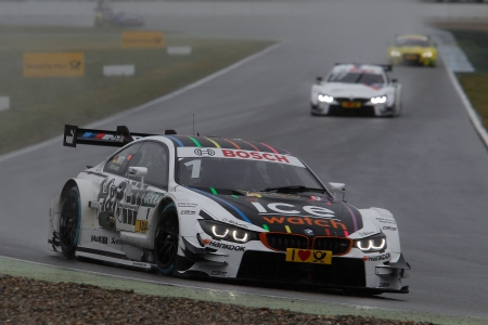Hockenheim (DE) 03th May 2015. BMW Motorsport, Race 2, Marco Wittmann (DE) Ice-Watch BMW M4 DTM and Martin Tomczyk (DE) BMW M Performance Parts M4 DTM. This image is copyright free for editorial use © BMW AG (05/2015).