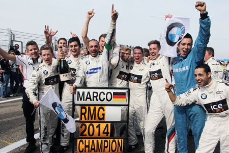 Zandvoort (NL) 28th September 2014. BMW Motorsport, Member of BMW Team RMG celebrate the Team Championchip 2014. This image is copyright free for editorial use © BMW AG (09/2014).